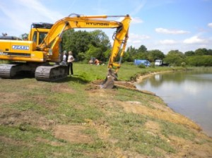 Photo of re-profiling of lake margin